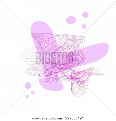 Abstract Pink Lovely Backround Butterfly Heart For Text