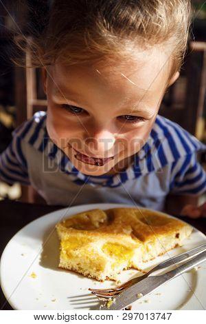 Little Boy Is On The Breakfast In Thailand