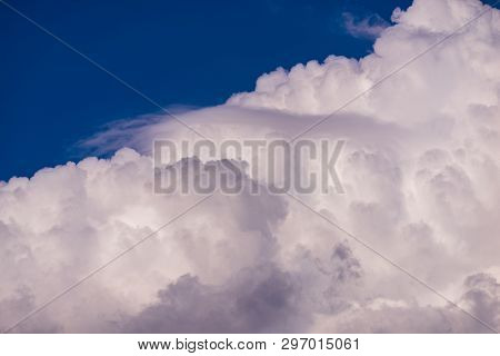 Beautiful Skyview With Clouds. Natural Sky Background