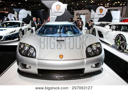 NEW YORK, NY, USA - APRIL 17, 2019: Koenigsegg CCX at the New York International Auto Show 2019, at the Jacob Javits Center. This was Press Preview Day One of NYIAS