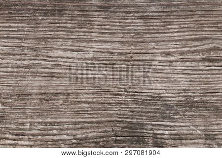 Vintage Abstract Pattern Of Wood Background. Brown Retro Rough Wooden Texture. Gray Old Paper Surfac