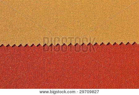 Yellow and orange textiles