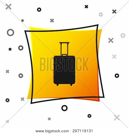 Black Travel Suitcase Icon Isolated On White Background. Traveling Baggage Sign. Travel Luggage Icon