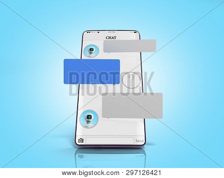 Chat With Chat Bot Chat Message On Smartphone Chat Window In The Smartphone Empty Message Fields Han