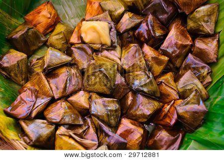 Stuffed Dough Pyramid Dessert