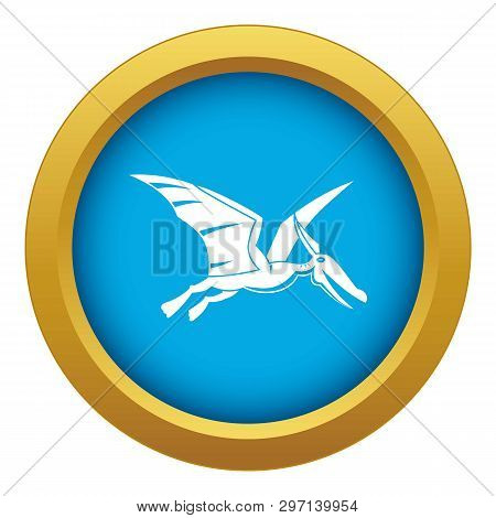 Pterosaurs Dinosaur Icon Blue Vector Isolated On White Background For Any Design