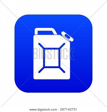 Fuel Jerrycan Icon Digital Blue For Any Design Isolated On White Vector Illustration