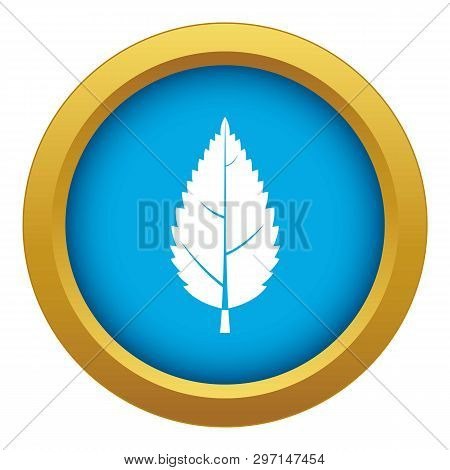 Hornbeam Leaf Icon Blue Vector Isolated On White Background For Any Design