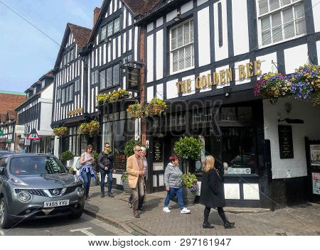 Stratford Upon Avon, England, - Circa April,2019 - Shakespeare Would Not Recognize His Home Town Tod