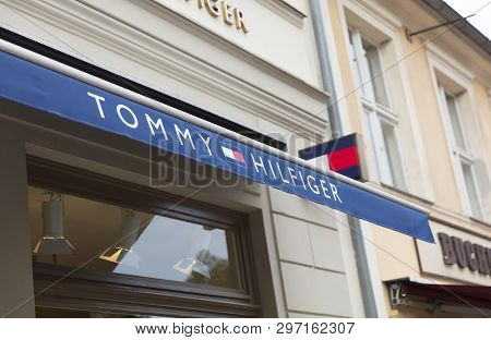 Potsdam, Berlin, Europe: 20th August 2018: Tommy Hilfiger Store Sign