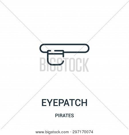 Eyepatch Icon Isolated On White Background From Pirates Collection. Eyepatch Icon Trendy And Modern