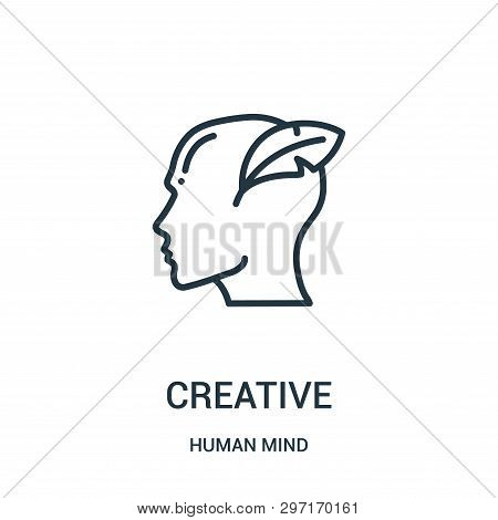 Creative Icon Isolated On White Background From Human Mind Collection. Creative Icon Trendy And Mode