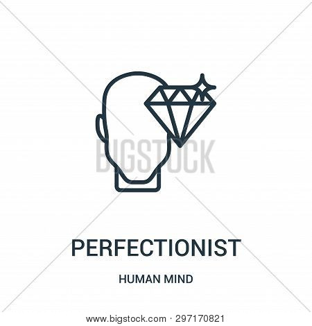 Perfectionist Icon Isolated On White Background From Human Mind Collection. Perfectionist Icon Trend