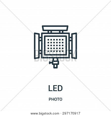Led Icon Isolated On White Background From Photo Collection. Led Icon Trendy And Modern Led Symbol F