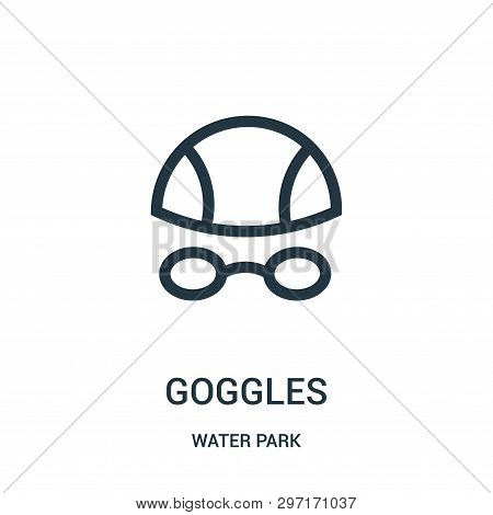 Goggles Icon Isolated On White Background From Water Park Collection. Goggles Icon Trendy And Modern