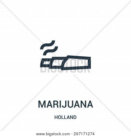 Marijuana Icon Isolated On White Background From Holland Collection. Marijuana Icon Trendy And Moder