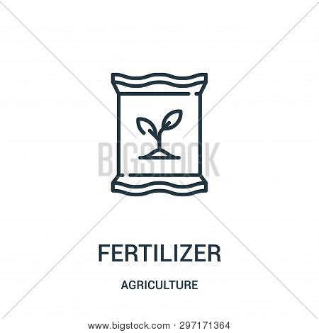 Fertilizer Icon Isolated On White Background From Agriculture Collection. Fertilizer Icon Trendy And