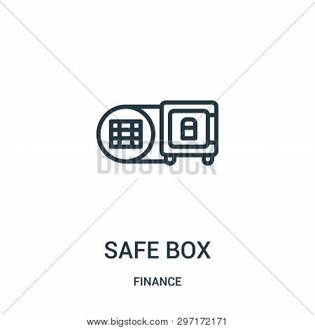 Safe Box Icon Isolated On White Background From Finance Collection. Safe Box Icon Trendy And Modern