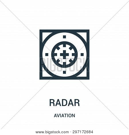 Radar Icon Isolated On White Background From Aviation Collection. Radar Icon Trendy And Modern Radar