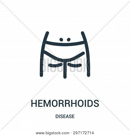 Hemorrhoids Icon Isolated On White Background From Disease Collection. Hemorrhoids Icon Trendy And M