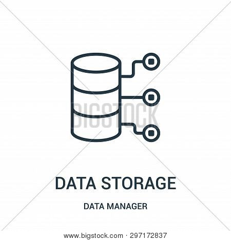 Data Storage Icon Isolated On White Background From Data Manager Collection. Data Storage Icon Trend