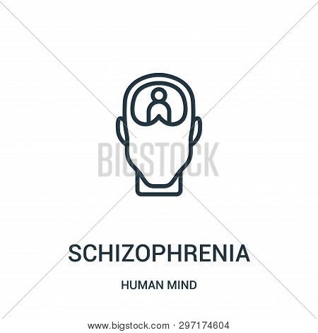 Schizophrenia Icon Isolated On White Background From Human Mind Collection. Schizophrenia Icon Trend