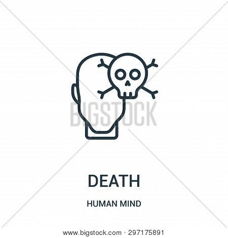 Death Icon Isolated On White Background From Human Mind Collection. Death Icon Trendy And Modern Dea