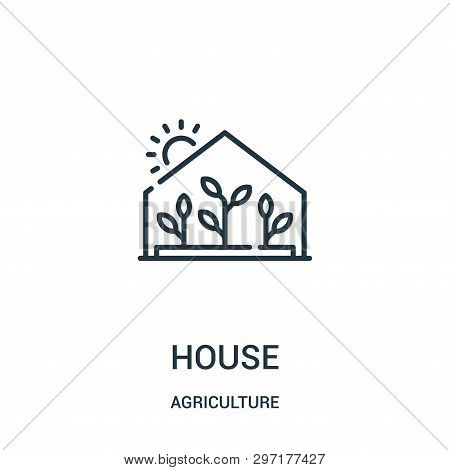 Greenhouse Icon Isolated On White Background From Agriculture Collection. Greenhouse Icon Trendy And