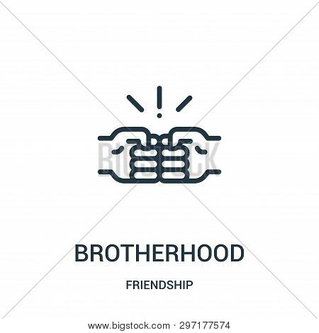 Brotherhood Icon Isolated On White Background From Friendship Collection. Brotherhood Icon Trendy An