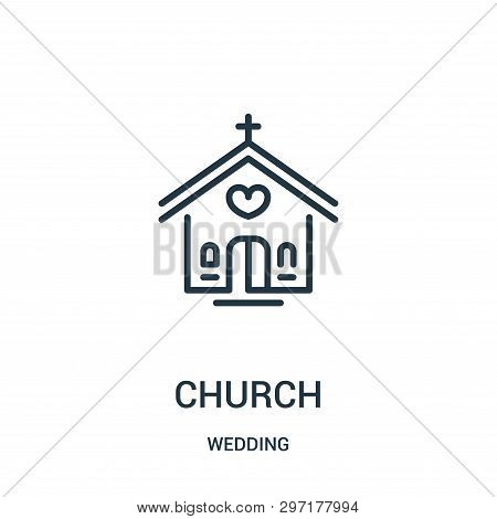 Church Icon Isolated On White Background From Wedding Collection. Church Icon Trendy And Modern Chur