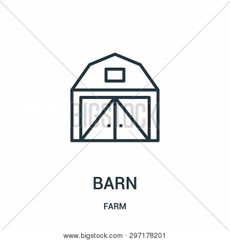 Barn Icon Isolated On White Background From Farm Collection. Barn Icon Trendy And Modern Barn Symbol
