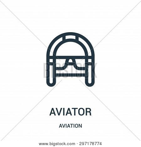 Aviator Icon Isolated On White Background From Aviation Collection. Aviator Icon Trendy And Modern A