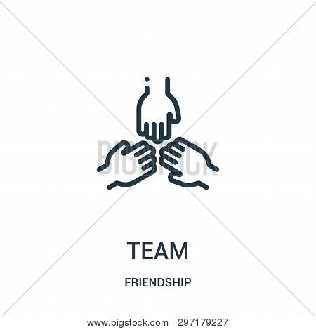 Team Icon Isolated On White Background From Friendship Collection. Team Icon Trendy And Modern Team