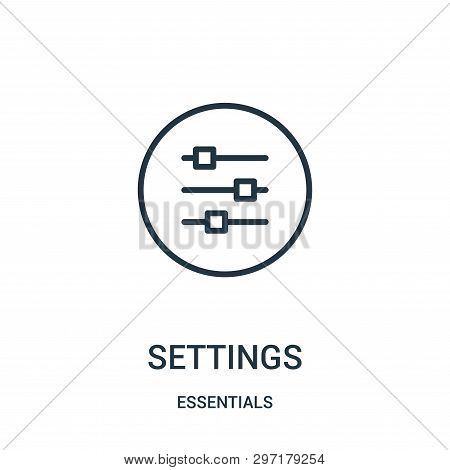 Settings Icon Isolated On White Background From Essentials Collection. Settings Icon Trendy And Mode