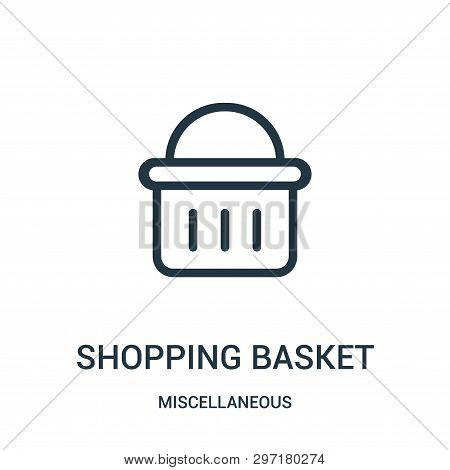 shopping basket icon isolated on white background from miscellaneous collection. shopping basket icon trendy and modern shopping basket symbol for logo, web, app, UI. shopping basket icon simple sign. shopping basket icon flat vector illustration for grap poster