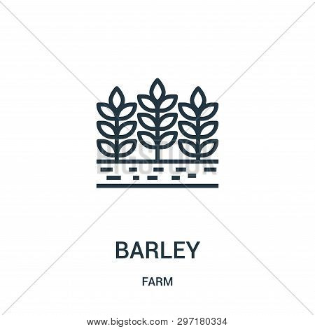 Barley Icon Isolated On White Background From Farm Collection. Barley Icon Trendy And Modern Barley