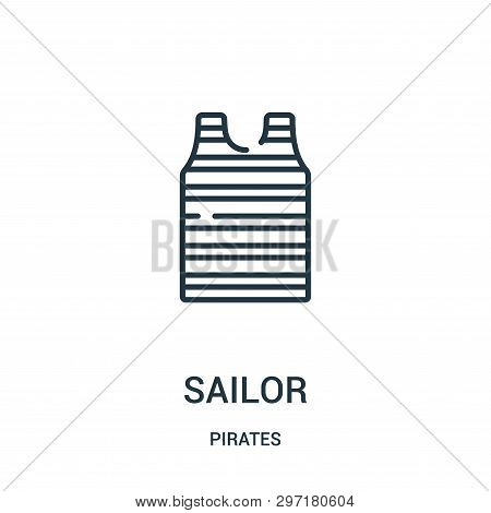 Sailor Icon Isolated On White Background From Pirates Collection. Sailor Icon Trendy And Modern Sail