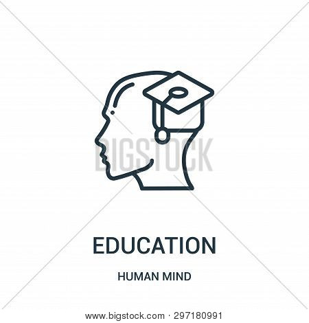 Education Icon Isolated On White Background From Human Mind Collection. Education Icon Trendy And Mo