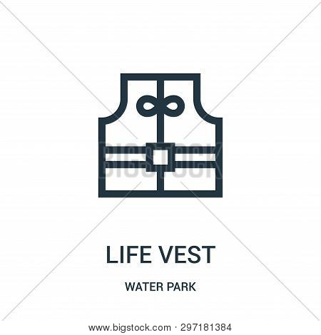 Life Vest Icon Isolated On White Background From Water Park Collection. Life Vest Icon Trendy And Mo