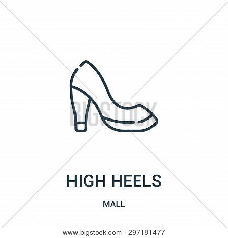 High Heels Icon Isolated On White Background From Mall Collection. High Heels Icon Trendy And Modern