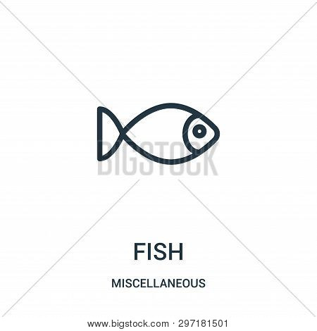 Fish Icon Isolated On White Background From Miscellaneous Collection. Fish Icon Trendy And Modern Fi