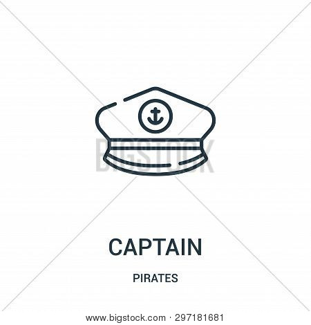 Captain Icon Isolated On White Background From Pirates Collection. Captain Icon Trendy And Modern Ca