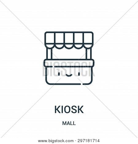 Kiosk Icon Isolated On White Background From Mall Collection. Kiosk Icon Trendy And Modern Kiosk Sym