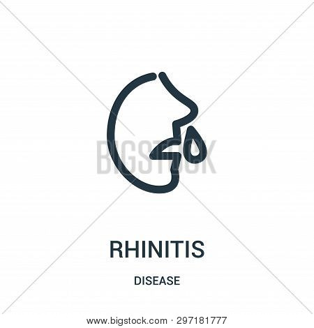 Rhinitis Icon Isolated On White Background From Disease Collection. Rhinitis Icon Trendy And Modern