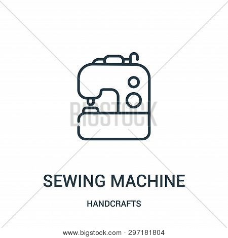 Sewing Machine Icon Isolated On White Background From Handcrafts Collection. Sewing Machine Icon Tre