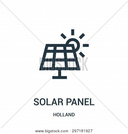 Solar Panel Icon Isolated On White Background From Holland Collection. Solar Panel Icon Trendy And M