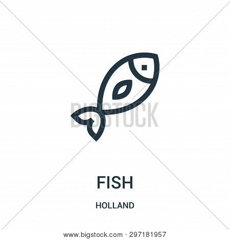 Fish Icon Isolated On White Background From Holland Collection. Fish Icon Trendy And Modern Fish Sym