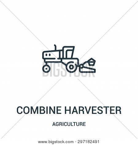 Combine Harvester Icon Isolated On White Background From Agriculture Collection. Combine Harvester I