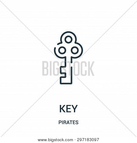 Key Icon Isolated On White Background From Pirates Collection. Key Icon Trendy And Modern Key Symbol