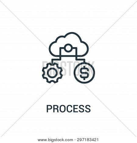 Process Icon Isolated On White Background From Seo Collection. Process Icon Trendy And Modern Proces